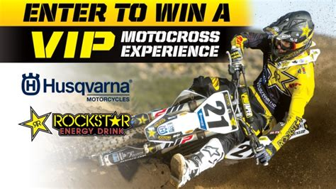 Dirt Bike Sweepstakes - rockstar energy s national sx husqvarna sweepstakes giveaway gorilla