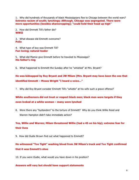 Emmett Till Essay by Emmett Till Essay Questions