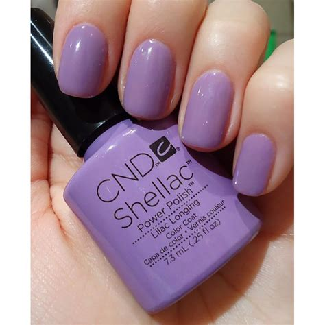 shellac nail polish light cnd creative nail design shellac power polish lilac