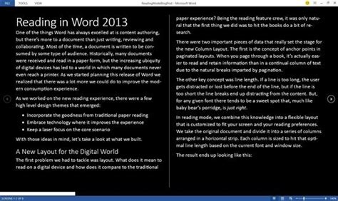 reading layout word 2013 microsoft talks about reading with word 2013 neowin