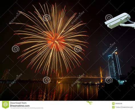 new year cctv security monitoring the happy new year fireworks