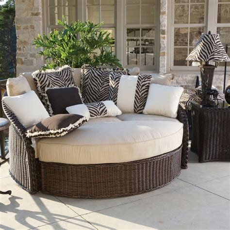 patio furniture sedona wicker daybed by summer classics outdoor furniture