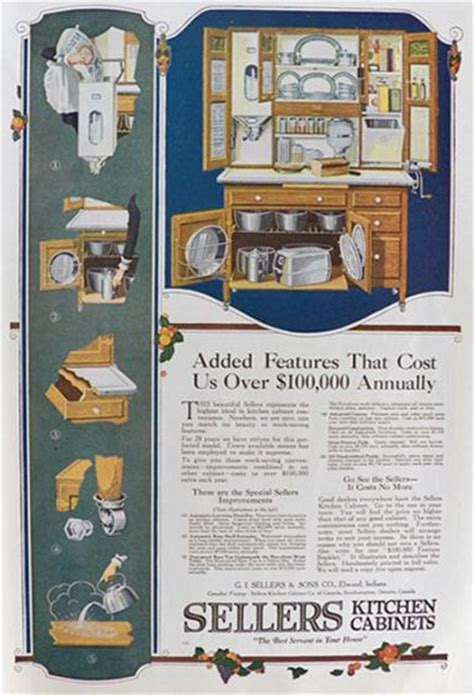 kitchen cabinet advertisement 1920 sellers kitchen cabinet ad added features vintage
