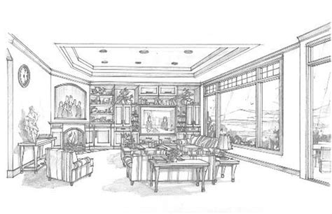 Interior House Drawing by Large Images For House Plan 149 1223