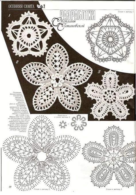diagram crochet flower crochet flower diagram