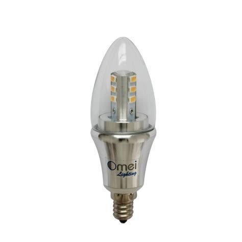Led Candelabra Bulb Daylight Dimmable 6 Pack Omailighting Candelabra Base Led Light Bulb 60 Watt
