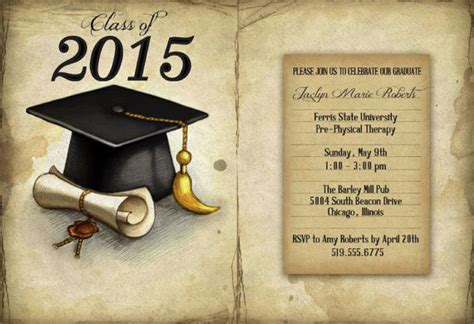 graduation cards free templates 40 free graduation invitation templates template lab