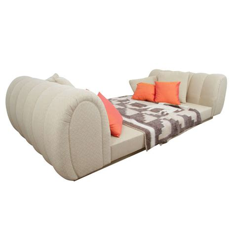 platform sleigh bed custom upholstered platform sleigh bed at 1stdibs
