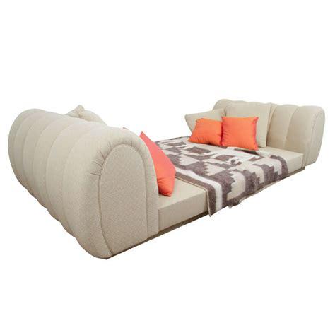 Platform Sleigh Bed Custom Upholstered Platform Sleigh Bed At 1stdibs