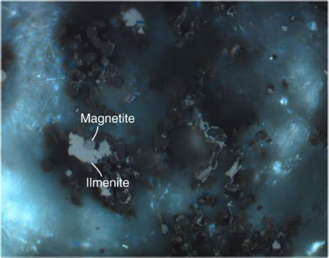 hematite in thin section figure f87 ilmenite light gray intergrown with