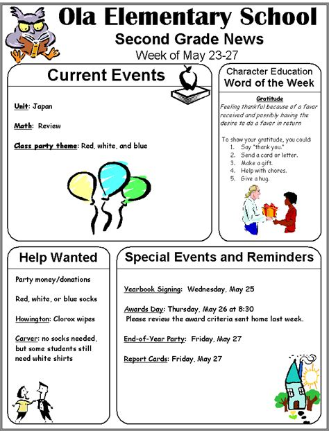 5th grade newsletter template 5th grade newsletter template 28 images 5th grade