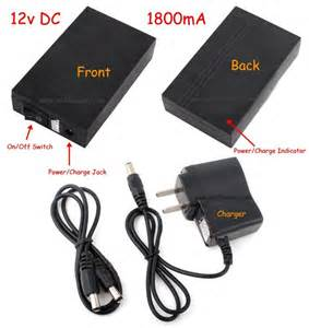 12v 1800ma portable battery pack with charger