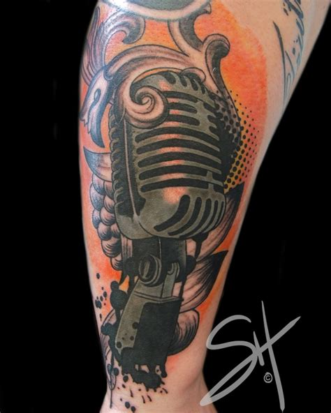 microphone tattoo pinterest microphone tattoos pinterest music tattoos and tattoo