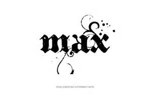 max name tattoo designs