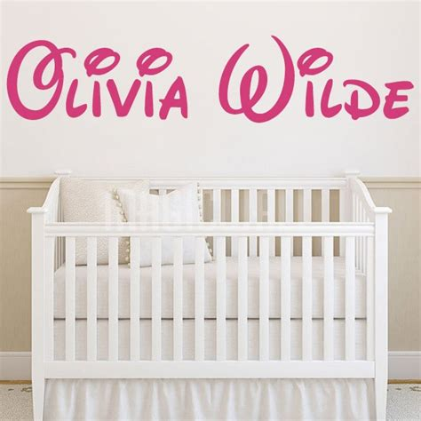 personalized name stickers for walls wall stickers disney name monogram wall decals canada