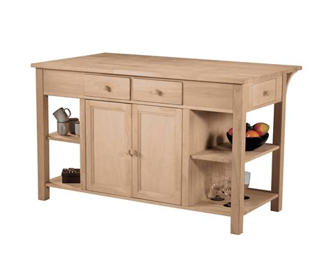 kitchen island kit why choosing unfinished kitchen island with optional finishing kit