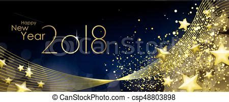 new year line happy new year 2018 greeting card vector eps vectors