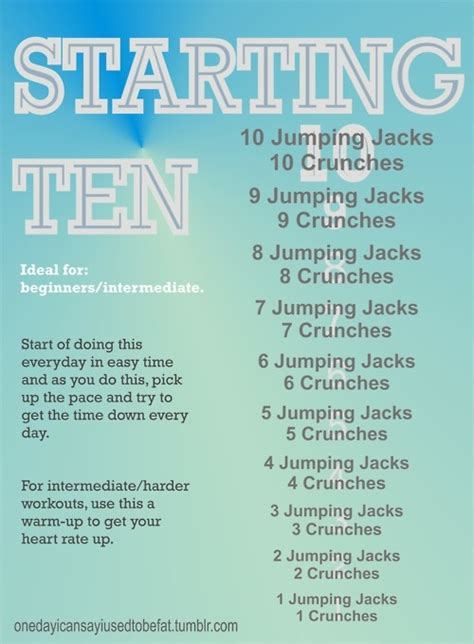 starting 10 something you can do at home keepin fit