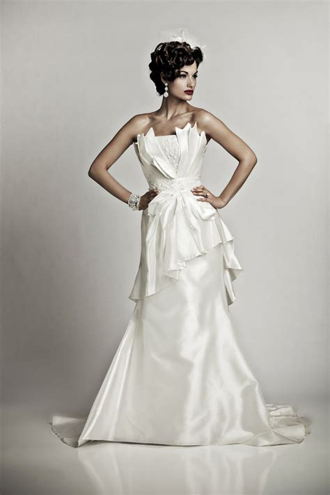artistic wedding dresses glamourous ivory silk strapless mermaid wedding dress with