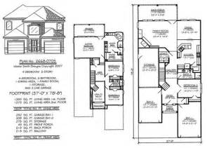 Home Plans Online Narrow 2 Story Floor Plans 36 50 Foot Wide Lots