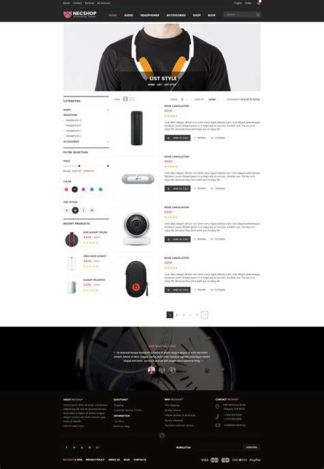 woocommerce theme listview nec shop hitech rtl responsive multipurpose woocommerce