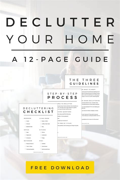 Home Organizing Workbook best 25 downsizing tips ideas on declutter
