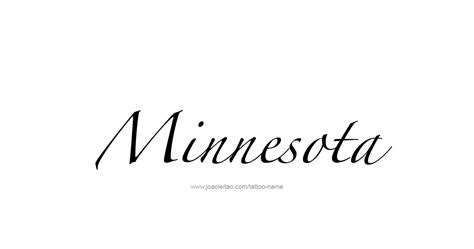 tattoo mn minnesota usa state name designs page 3 of 5