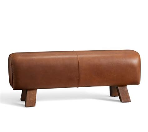 pottery barn bench seat ken fulk leather pommel bench pottery barn
