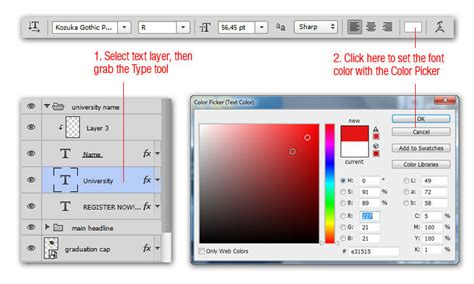 how to change color of text in photoshop 45 clever photoshop tricks you should hongkiat