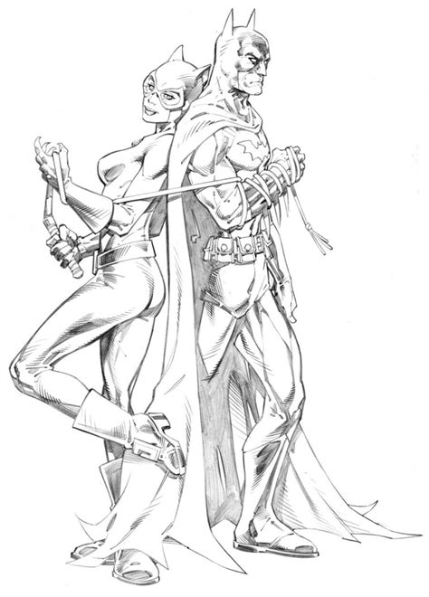 bat woman coloring page batman and catwoman by randygreen on deviantart