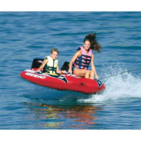 boat tubes fleet farm airhead viper 2 red double rider towable inflatable tube