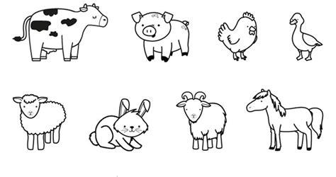 plantillas de animalitos de granja para hacerlos en animales de la granja dibujo para colorear e imprimir