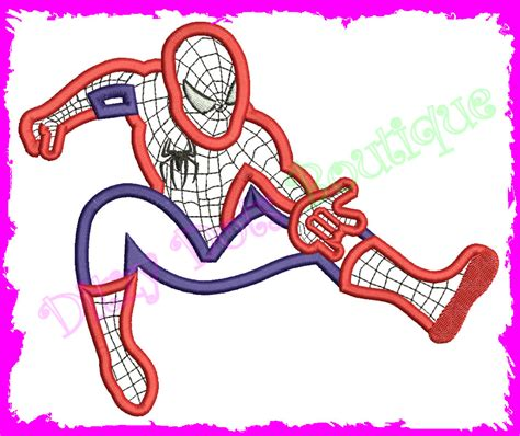 spiderman embroidery pattern spiderman applique embroidery design