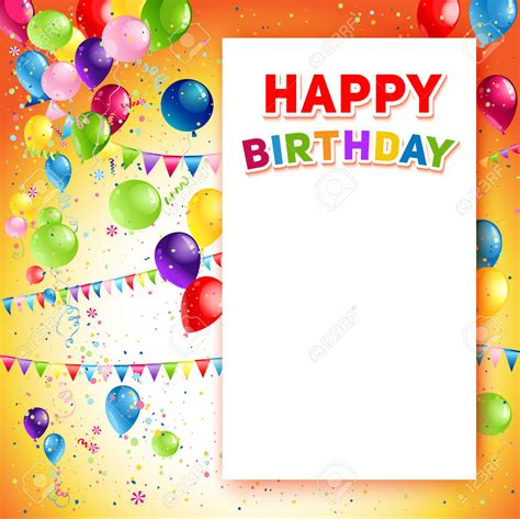 happy birthday template free orange positive background free