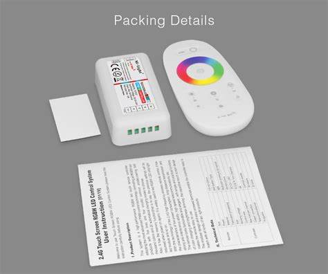 rgbw led light kit fut027 2 4ghz touch rgbw led controller for rgbw led