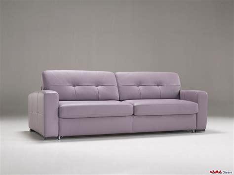 divano letto a in pelle con meccanismo di alta