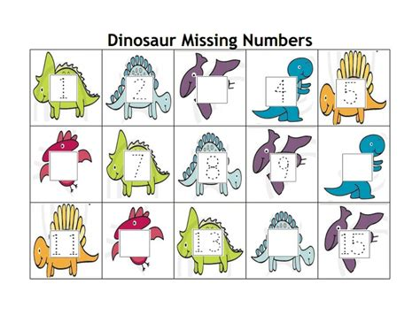 printable dinosaur numbers 17 best images about kindergarten homeschool dinosaur