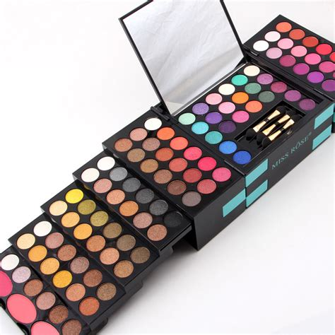 Promo 3 Decay Eyeshadow Palette 3d miss pro 148 colors eyeshadow pallete combination 3 colors blushers lip gloss