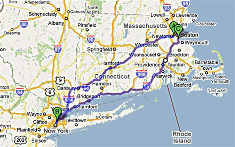 boston to new york info carte boston new york