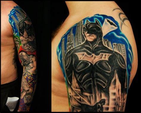 tattoo batman arm tattoos for nerds