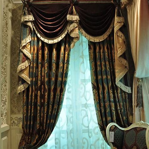 luxurious drapes retro and luxury curtains design for room darkening