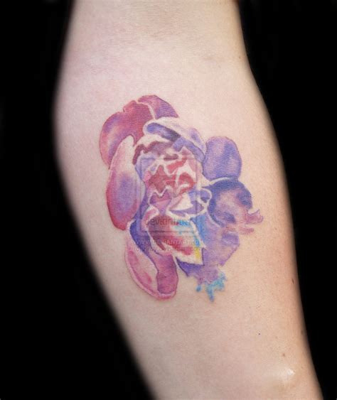 watercolor flower tattoo 1000 images about watercolor on