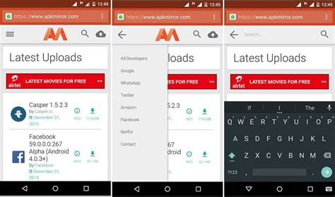 mirror apk how to install version of an android app droidviews