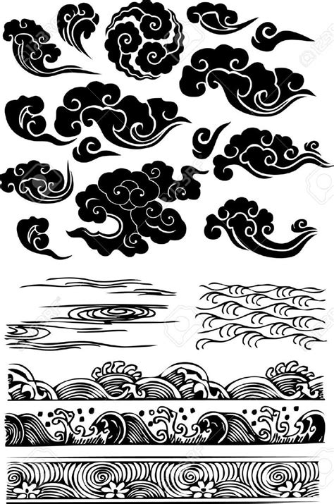 japanese cloud tattoo amazing black japanese clouds flash jpg 861 215 1300