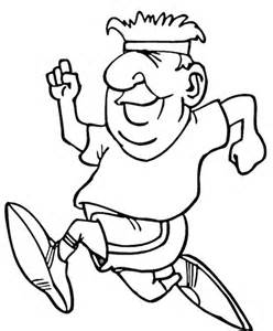coloring pages of a running running coloring page supercoloring