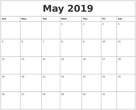 Calendar 2019 May September 2019 Calendar Pages