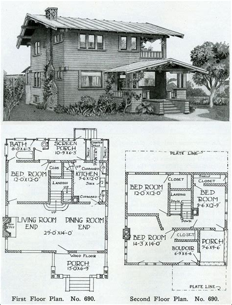 1910 house plans two story 1910 simple swiss chalet henry wilson