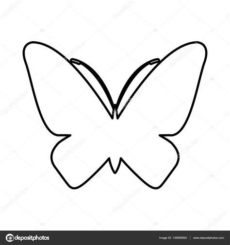 imagenes de mariposas siluetas icono aislado de la silueta de mariposa vector de stock