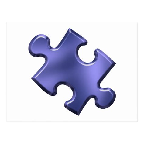 autism awareness puzzle piece postcards postcard