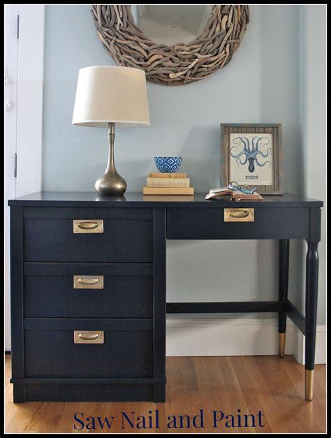 blue desk coastal blue desk saw nail and paint
